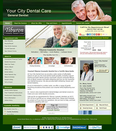 Dental Website Designs - Sample 4