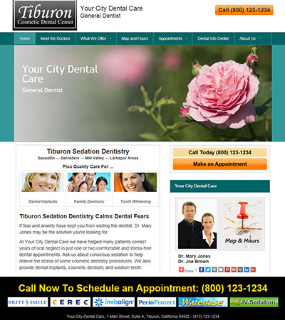 Dental Website Designs - Sample 8