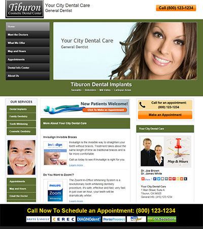 Dental Website Designs - Sample 12