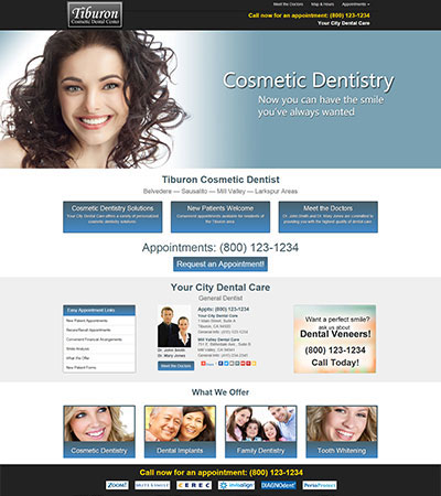 Dental Website Designs - Sample 1