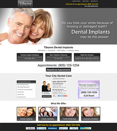 Dental Website Designs - Sample 10