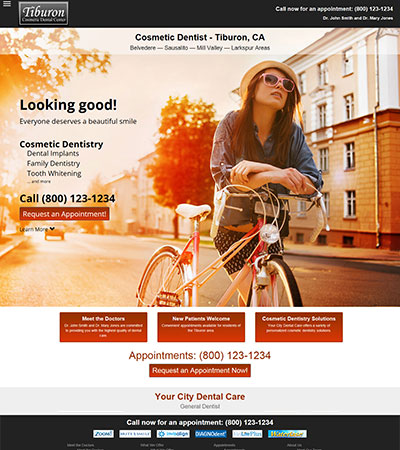 Dental Website Designs - Sample 2