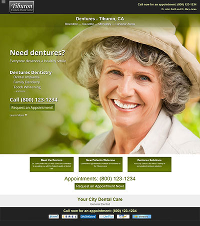 Dental Website Designs - Sample 14