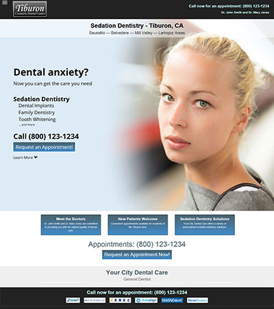 Dental Website Designs - Sample 5