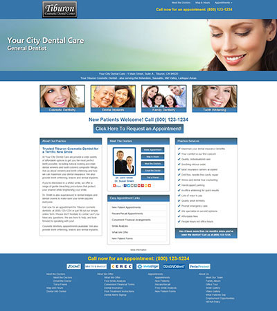Dental Website Designs - Sample 3