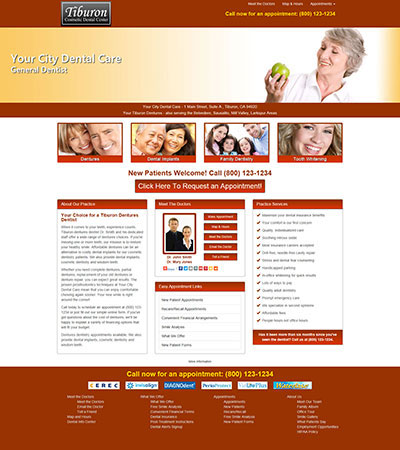 Dental Website Designs - Sample 15