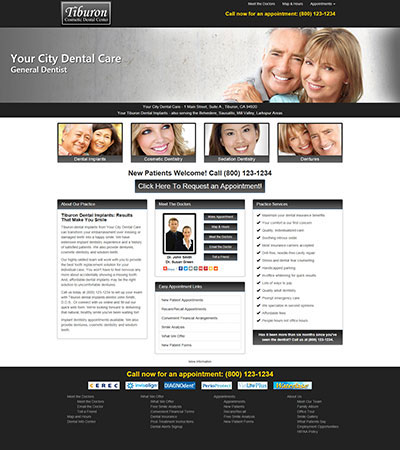 Dental Website Designs - Sample 9