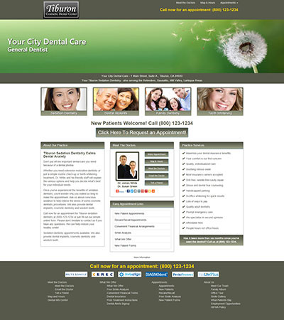 Dental Website Designs - Sample 6